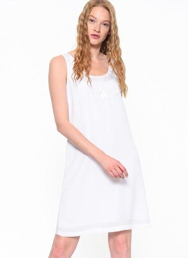 Calvin Klein Kolsuz Askılı Elbise Beyaz